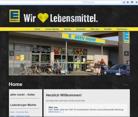 Homepage Edeka Keller