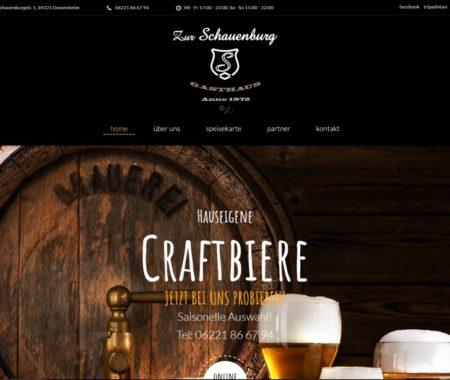 Homepage Gasthaus zur Schauenburg